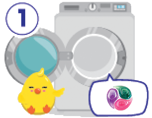 Step 1 - Throw ChickyPOD into the laundry